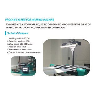 Camera System For Warping Machine
