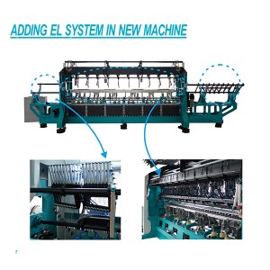 Adding EL System Electronic Lateral System For Warp Knitting Machine