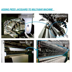 Piezo Jacquard System for Raschel Warp Knitting Machine